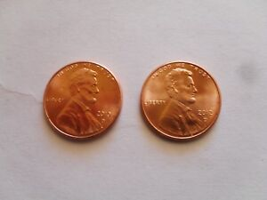 2010   2012 D LINCOLN SHIELD CENT BU PENNY US COINS UNCIRCULATED