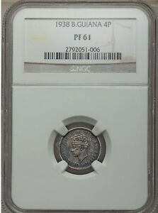 Click now to see the BUY IT NOW Price! 1938 BRITISH GUIANA PROOF 4 PENCE NGC PF 61  GUYANA