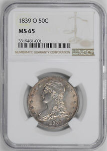 Click now to see the BUY IT NOW Price! 1839 O CAPPED BUST 50C NGC MS 65