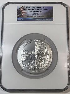 Click now to see the BUY IT NOW Price! 2010 P AMERICA THE BEAUTIFUL 5 OZ GRAND CANYON NGC SP69 ER LIGHT FINISH