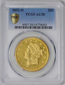 Click now to see the BUY IT NOW Price! 1852 O LIBERTY HEAD $20 PCGS AU 58