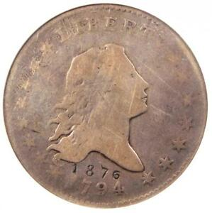 1794 FLOWING HAIR BUST HALF DOLLAR 50C O 107 R6   ANACS VG8 DETAIL    COIN