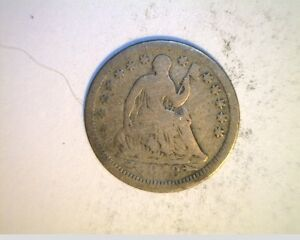 1853 US SEATED LIBERTY HALF DIME AVE GRADE CIRCULATED .900 SILVER  US 1265