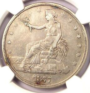 1877 TRADE SILVER DOLLAR T$1   CERTIFIED NGC XF DETAIL    CERTIFIED COIN