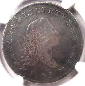 1795 FLOWING HAIR BUST HALF DOLLAR 50C   CERTIFIED NGC VG DETAILS    COIN