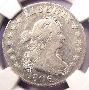 1806 DRAPED BUST QUARTER 25C   CERTIFIED NGC VF DETAILS    COIN   NEAR XF
