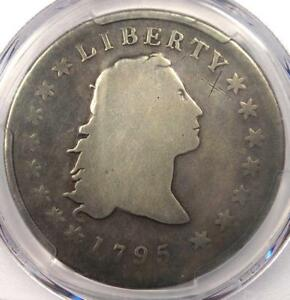 1795 FLOWING HAIR SILVER DOLLAR  $1    CERTIFIED PCGS GOOD DETAIL    COIN