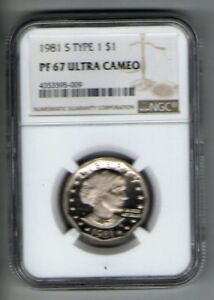 1981 S SUSAN B ANTHONY DOLLAR TYPE 1 PF 67 ULTRA CAMEO   US 6579