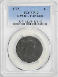 Click now to see the BUY IT NOW Price! 1795 FLOWING HAIR LARGE 1C PCGS FB 12 N