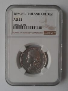 Click now to see the BUY IT NOW Price! NETHERLANDS 1 GULDEN 1896  COIN NGC AU 55
