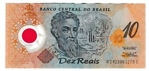 Click now to see the BUY IT NOW Price! 2000 BRAZIL 10 REAIS BRAZILIAN DEZ REALS NOTE POLYMER BANKNOTE P 248A NICE