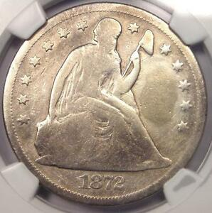 1872 CC SEATED LIBERTY DOLLAR $1   NGC VG DETAILS    CARSON CITY COIN