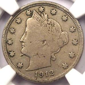 1912 S LIBERTY NICKEL 5C   NGC FINE DETAILS    KEY DATE CERTIFIED COIN