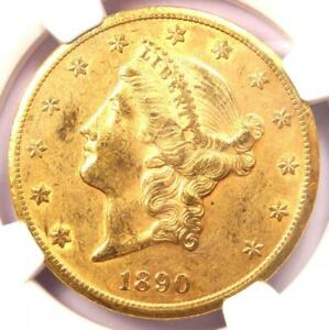 1890 CC LIBERTY GOLD DOUBLE EAGLE $20 COIN   NGC AU55      $7 150 VALUE
