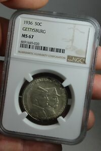 Click now to see the BUY IT NOW Price! 1936 50C GETTYSBURG COMMEMORATIVE HALF DOLLAR GREAT ORIGINAL COIN  NGC  MS67