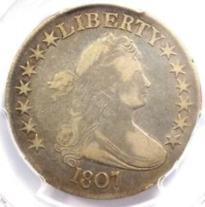 1807 DRAPED BUST HALF DOLLAR 50C COIN   CERTIFIED PCGS F15   $600 VALUE