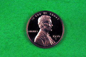 1970 S   CAMEO LINCOLN PENNY US GEM  PROOF COIN