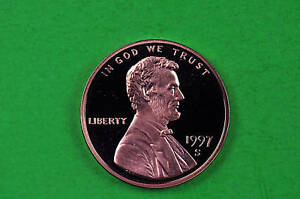 1997 S  DEEP CAMEO LINCOLN PENNY US GEM  PROOF COIN