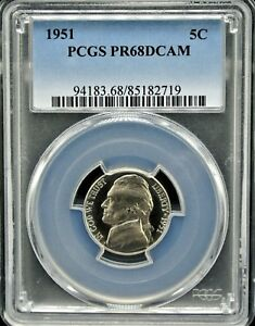 Click now to see the BUY IT NOW Price! 1951 JEFFERSON 5C PCGS PR 68 DCAM