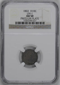 Click now to see the BUY IT NOW Price! 1802 DRAPED BUST H10C NGC AU 50