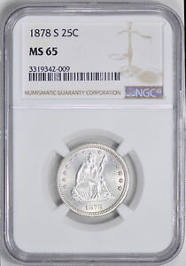 Click now to see the BUY IT NOW Price! 1878 S LIBERTY SEATED 25C NGC MS 65
