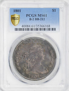Click now to see the BUY IT NOW Price! 1801 DRAPED BUST $1 PCGS MS 61