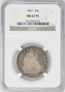 Click now to see the BUY IT NOW Price! 1887 LIBERTY SEATED 50C NGC MS 67 PL