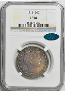 Click now to see the BUY IT NOW Price! 1911 BARBER 50C NGC PR 68