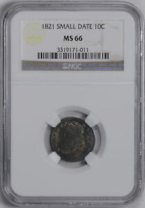 Click now to see the BUY IT NOW Price! 1821 CAPPED BUST 10C NGC MS 66