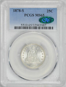 Click now to see the BUY IT NOW Price! 1878 S LIBERTY SEATED 25C PCGS MS 65