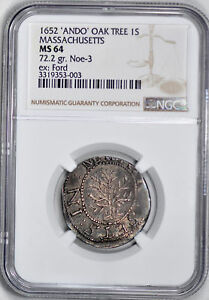 Click now to see the BUY IT NOW Price! 1652 OAK TREE SHILLING NGC MS 64