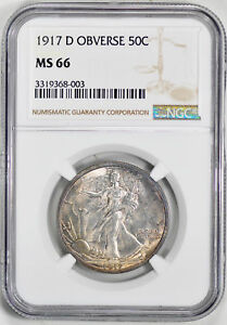 Click now to see the BUY IT NOW Price! 1917 D WALKING LIBERTY 50C NGC MS 66