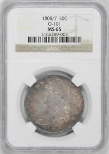 Click now to see the BUY IT NOW Price! 1808/7 CAPPED BUST 50C NGC MS 65