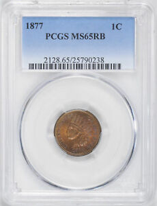 Click now to see the BUY IT NOW Price! 1877 INDIAN BRONZE 1C PCGS MS 65 RB