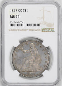 Click now to see the BUY IT NOW Price! 1877 CC TRADE T$1 NGC MS 64