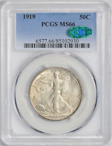Click now to see the BUY IT NOW Price! 1919 WALKING LIBERTY 50C PCGS MS 66