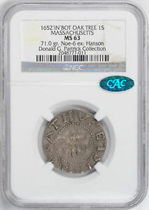 Click now to see the BUY IT NOW Price! 1652 OAK TREE SHILLING NGC MS 63