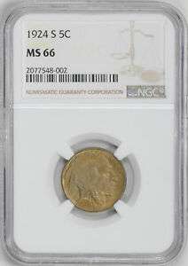 Click now to see the BUY IT NOW Price! 1924 S BUFFALO 5C NGC MS 66