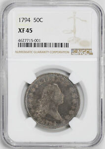 Click now to see the BUY IT NOW Price! 1794 FLOWING HAIR 50C NGC XF 45