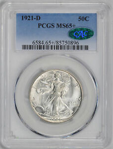 Click now to see the BUY IT NOW Price! 1921 D WALKING LIBERTY 50C PCGS MS 65