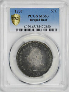 Click now to see the BUY IT NOW Price! 1807 DRAPED BUST 50C PCGS MS 63