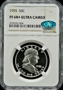 Click now to see the BUY IT NOW Price! 1955 FRANKLIN 50C NGC PF 68  ULTRA CAMEO  CAC