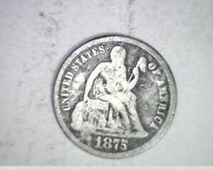 1875 US LIBERTY SEATED DIME SILVER  US 6686