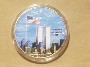 Click now to see the BUY IT NOW Price! 2001 AMERICAN SILVER EAGLE 9/11 FIREFIGHTERS AMERICA UNITES SEPTEMBER 11TH COIN