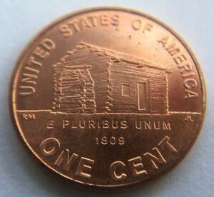 2009 D UNC LINCOLN LOG CABIN EARLY CHILDHOOD CENT 1 BICENTENNIAL MEMORIAL PENNY