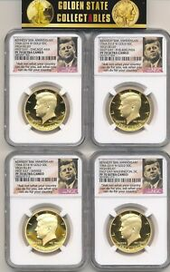 Click now to see the BUY IT NOW Price! 2014 W 4 COIN GOLD KENNEDY SET ALL NGC FIRST DAY PF70'S CHI DEN PHILLY D.C. OGP