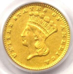 1869 INDIAN GOLD DOLLAR COIN G$1   PCGS GENUINE   AU DETAILS    DATE