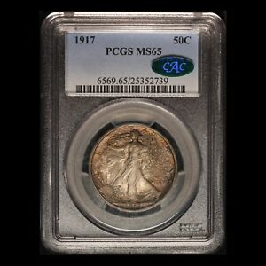 Click now to see the BUY IT NOW Price! 1917 WALKING LIBERTY HALF DOLLAR CAC & PCGS MS 65    USA