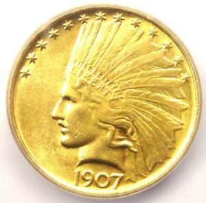 1907 INDIAN GOLD EAGLE $10 COIN   CERTIFIED ICG MS63  UNC BU    $2 250 VALUE