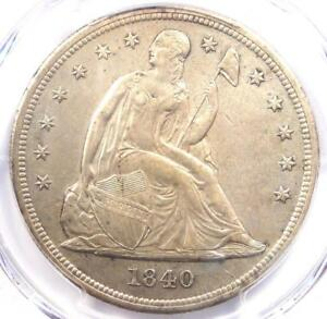1840 SEATED LIBERTY SILVER DOLLAR $1   PCGS AU DETAILS    CERTIFIED COIN